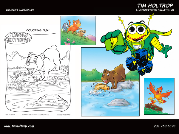 Art samples by storyboard artist, Tim Holtrop -- Children's Illustration