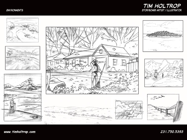 Art samples by storyboard artist, Tim Holtrop -- environments