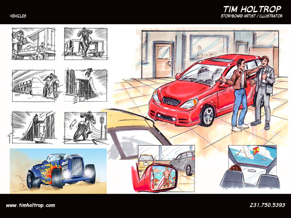 Art samples by storyboard artist, Tim Holtrop -- vehicles